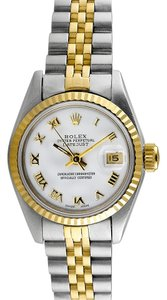 Rolex Rolex Datejust 18K Yellow Gold and Stainless Steel White Dial Ladies Watch