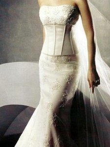 Oleg Cassini Ck118 2-piece Corset Wedding Dress