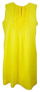 Calvin Klein short dress Yellow #calvinklein #cottondress #sleevelessdress on Tradesy