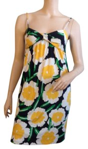 Diane von Furstenberg short dress White yellow on Tradesy