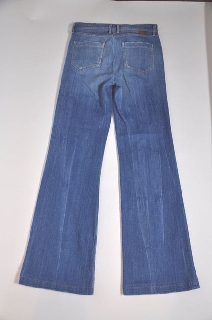 Goldsign Wore High-waist Denim Stretch Flare Leg Jeans-Medium Wash