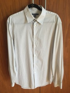 John Varvatos White Men's Dress Shirts