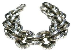 Chrome Hearts 1998 women's double ring cable link biker braclet