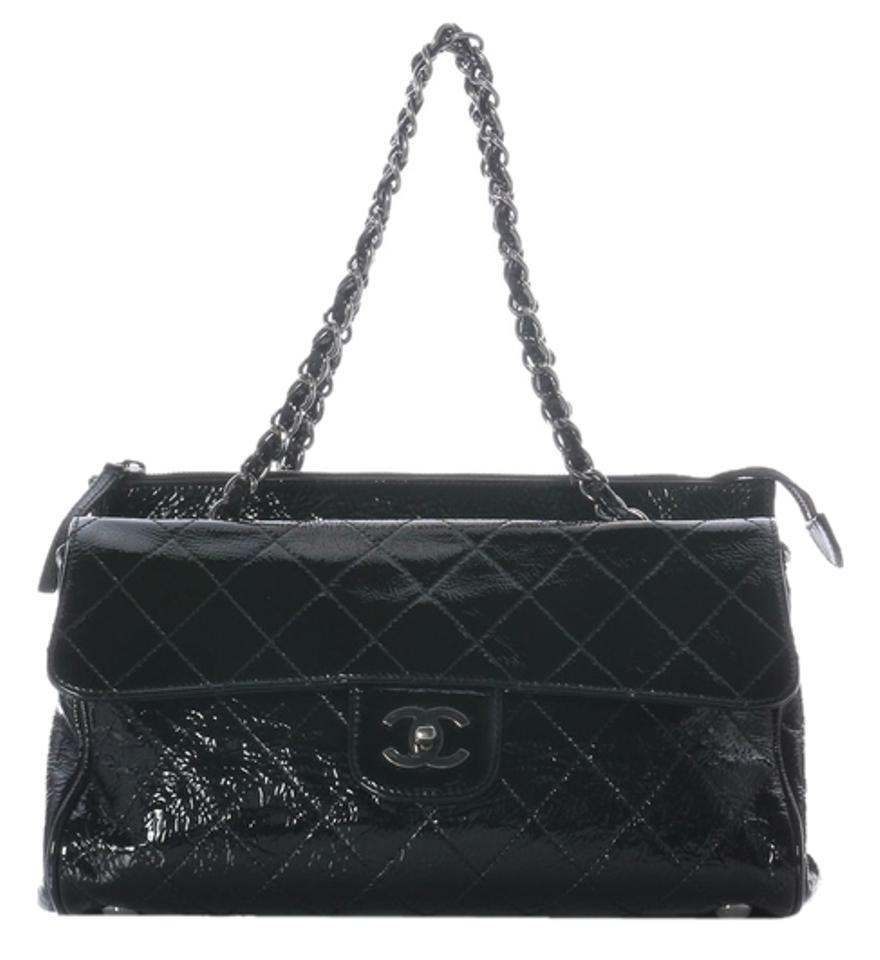 2beb9be55ed5 Chanel Patent Leather Ch.j0420.08 Quilted Ruthenium Shoulder Bag ...