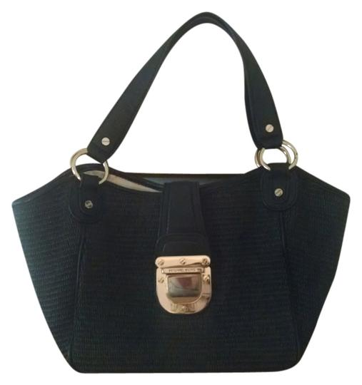 Preload https://item4.tradesy.com/images/michael-kors-blackgold-soft-straw-tote-5672653-0-0.jpg?width=440&height=440