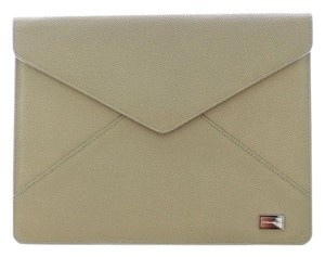 Dolce&Gabbana Beige Leather iPAD Tablet eBook Cover Bag Shell Folio