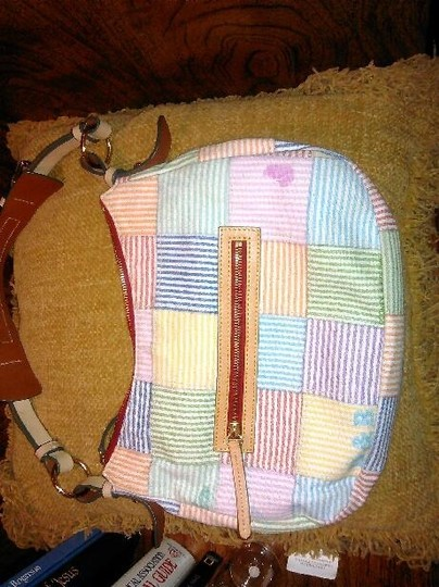 Dooney & Bourke Canvas Leather Handbag Tote in Multi-Color