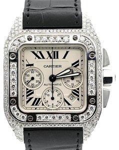 Cartier MEN'S CARTIER SANTOS DIAMOND WATCH