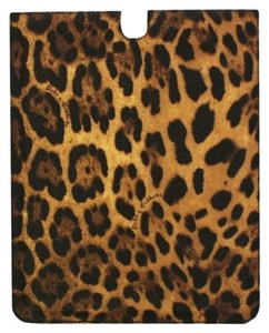 Dolce&Gabbana Leopard Leather iPAD Tablet eBook Cover Bag Shell Folio