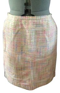 Karen Scott Tweed Pastel Skirt Pastel/Multi