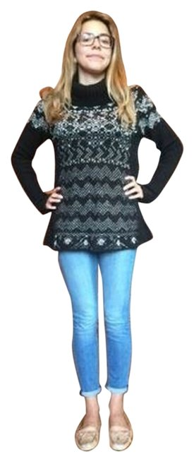 Free People Cozy Turtleneck Pattern Sweater