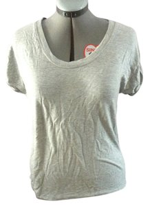 Old Navy Scoop Neck Stretchy T Shirt Gray
