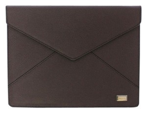 Dolce&Gabbana Gray Leather iPAD Tablet Cover Bag Shell Folio