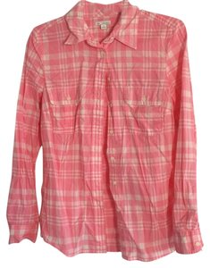 Gap Button Down Shirt Pink Plaid