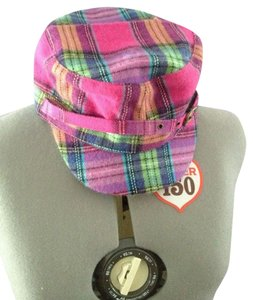 D&Y Pink Plaid Cap