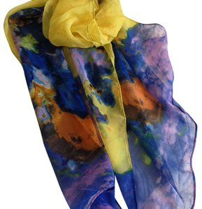 Impressionist look womens long scarf