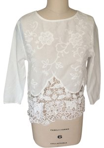 intu Lace Cut Out Blouse Summer Tunic