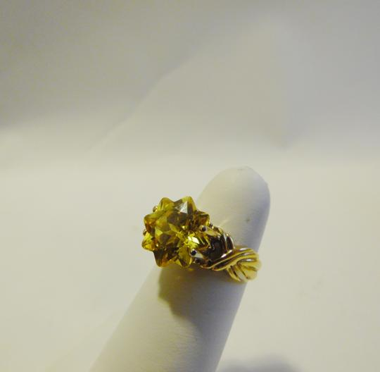 Technibond Technibond Yellow Star Cut CZ Ring Size 7