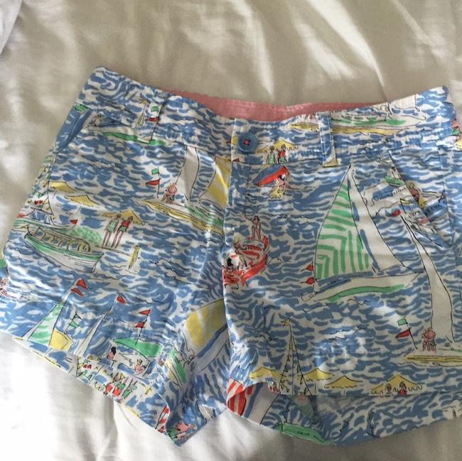 Item - White Baby Blue Coral Mint Green Yellow The Callahan Shorts Size 00 (XXS, 24)