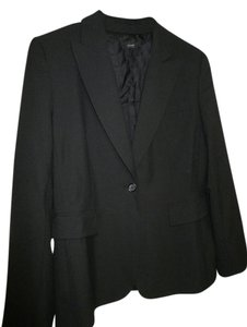 Alfani 12 Single Button Black Blazer