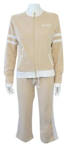 BCBGMAXAZRIA BCBGMAXAZRIA SPORT WOMEN'S LIGHT BROWN 2 PC TRACK SUIT SIZE L ON SALE
