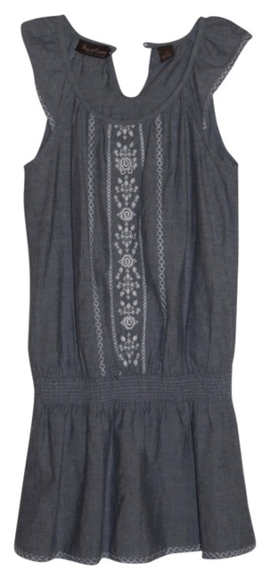 Preload https://item2.tradesy.com/images/light-blue-with-white-stitching-summertime-mid-length-short-casual-dress-size-4-s-5675416-0-0.jpg?width=400&height=650