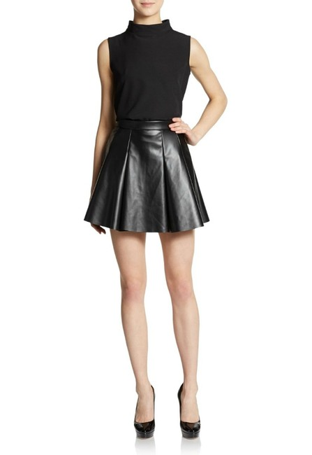 Saks Fifth Avenue Red Skater Mini Skirt black
