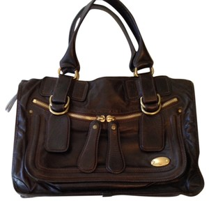 Chloé Chloe Bay Classic Dark Brown Leather Shoulder Bag