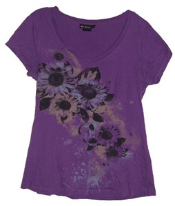 Self Esteem T Shirt Purple with Flowers