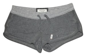 Abercrombie & Fitch Mini/Short Shorts Grey and White