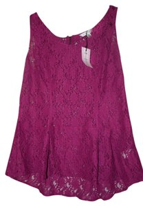 CAbi Night Out Date Night Peplum Top Purple