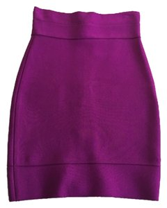 Hervé Leger Herve Bodycon Bandage Mini Skirt Fuschia