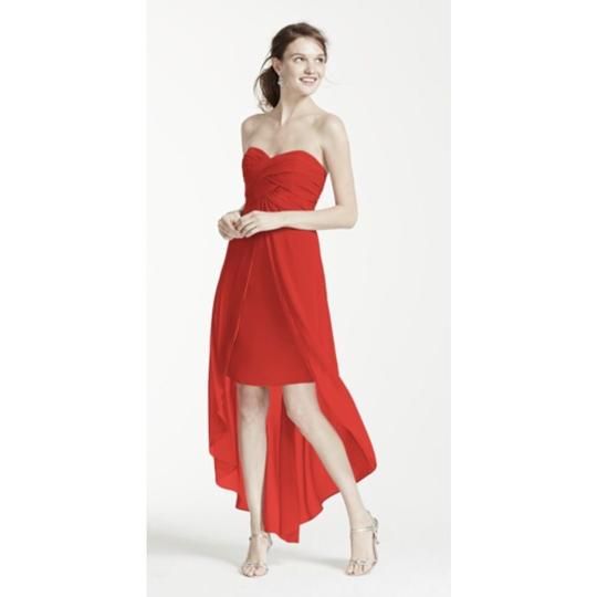 David's Bridal Orange Persimmon F15678 Dress