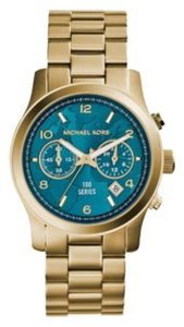 Michael Kors Absolutely Gorgeous Watch Hunger Stop Runway Gold-Tone Stainless Steel Watch