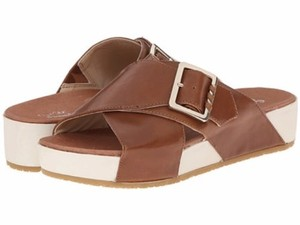 Dr. Scholl's Dr Collection Tan Flight Leather Platform Brown Sandals