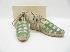 Eric Michael Beige Green Platforms