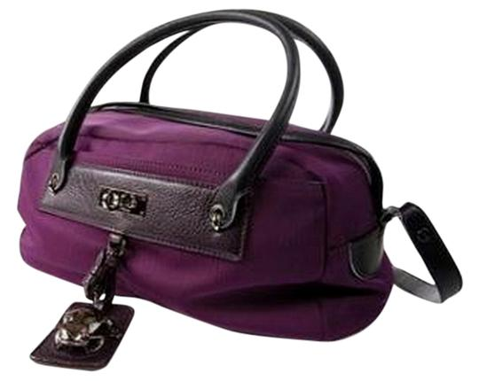 Marc Jacobs Nylon Bowler Frog Leather Tote in Purple