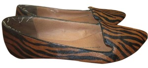Dolce Vita Faux Horse Hair Zebra Print Loafer Animal Print brown and black Flats