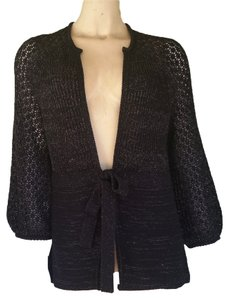 Tahari Tie Front Sweater Knit Cardigan