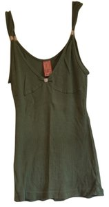 Free People Top Army Green / Pink
