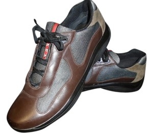 Prada MENS BROWN LEATHER Athletic
