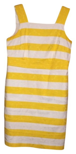 Ann Taylor short dress Yellow and White on Tradesy