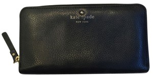Kate Spade Kate Spade Lacey Cobble Hill Black Zip Around Leather Wallet Pwru1801