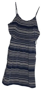 Bloom short dress Blue and Ivory Stripes on Tradesy