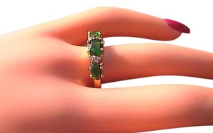 14k Yellow Gold Filled Emerald Ring (Stock# 13)