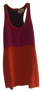 Madison Marcus short dress Magenta, orange and grey. on Tradesy