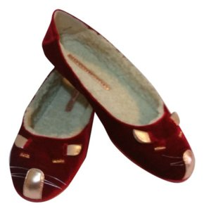 Marc by Marc Jacobs Velvet Burgundy Flats