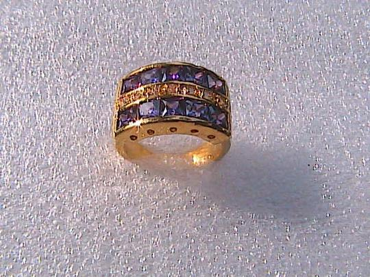 Other 14k Gold Filled Amethyst Wide Band Ring (stock#11)