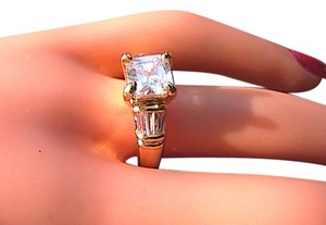 14k Yellow Gold Filled White Topaz Band Ring (Stock#23)