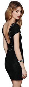 Free People Embellished Beaded Lbd Mini Bodycon Dress